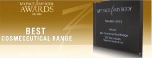 zo skin health best cosmeceutical range my face my body awards 2015